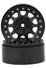 "SSD SSD RC D Hole 1.9"" Steel Beadlock Crawler Wheels (Black) (2)"