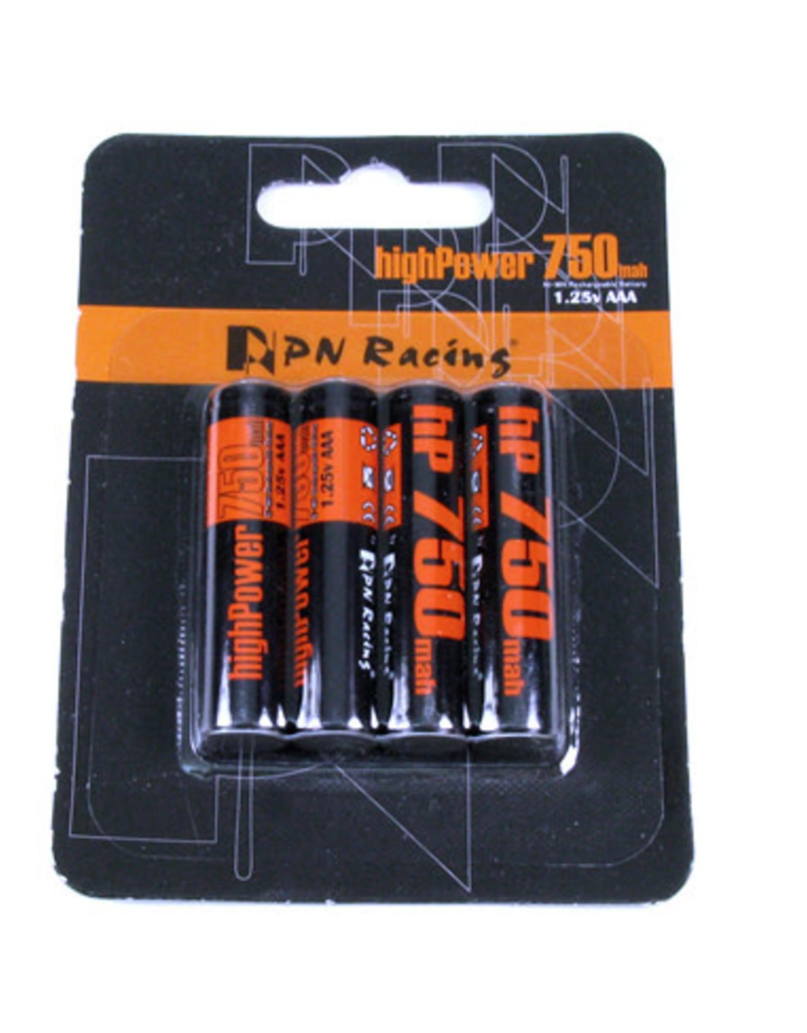 PN Racing PN Racing High Power 740mah Ni-MH Rechargeable AAA Battery (4pcs)