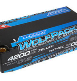 Reedy Wolfpack HV-LiPo Battery, 4200mAh 50C 7.6V, Shorty