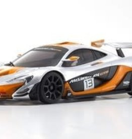 kyosho MINI-Z McLaren P1 GTR RTR, Silver/Orange, w/ MR-03 Chassis, RWD