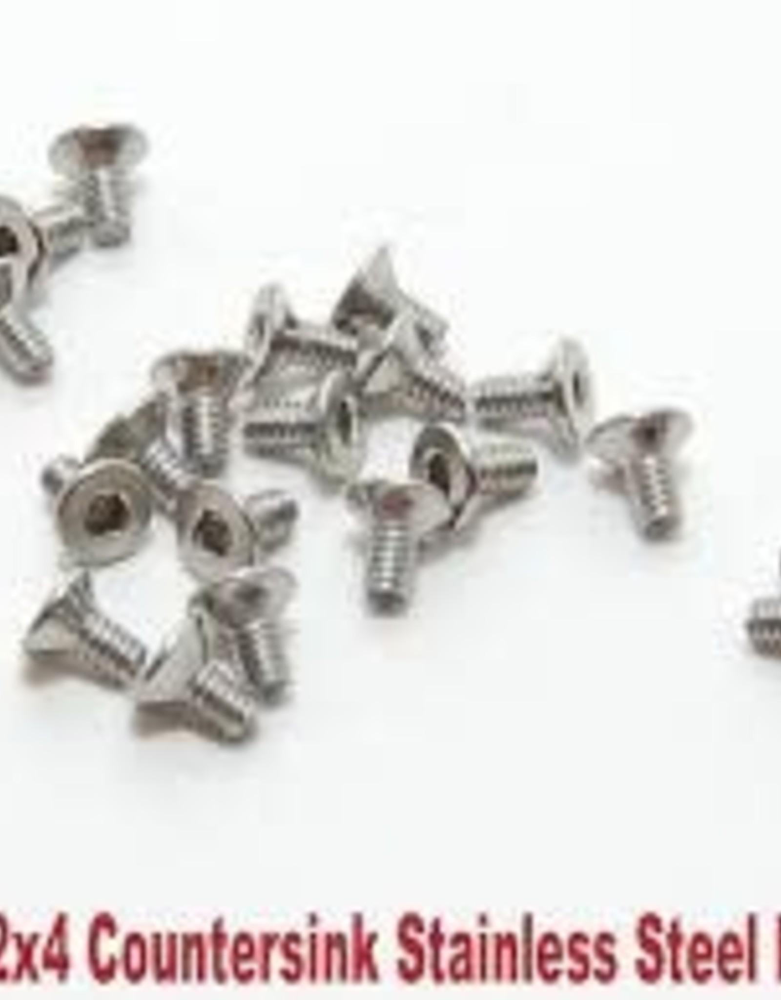 PN Racing PN Racing M2x4 Countersink Stainless Steel Hex Machine Screw (20pcs)
