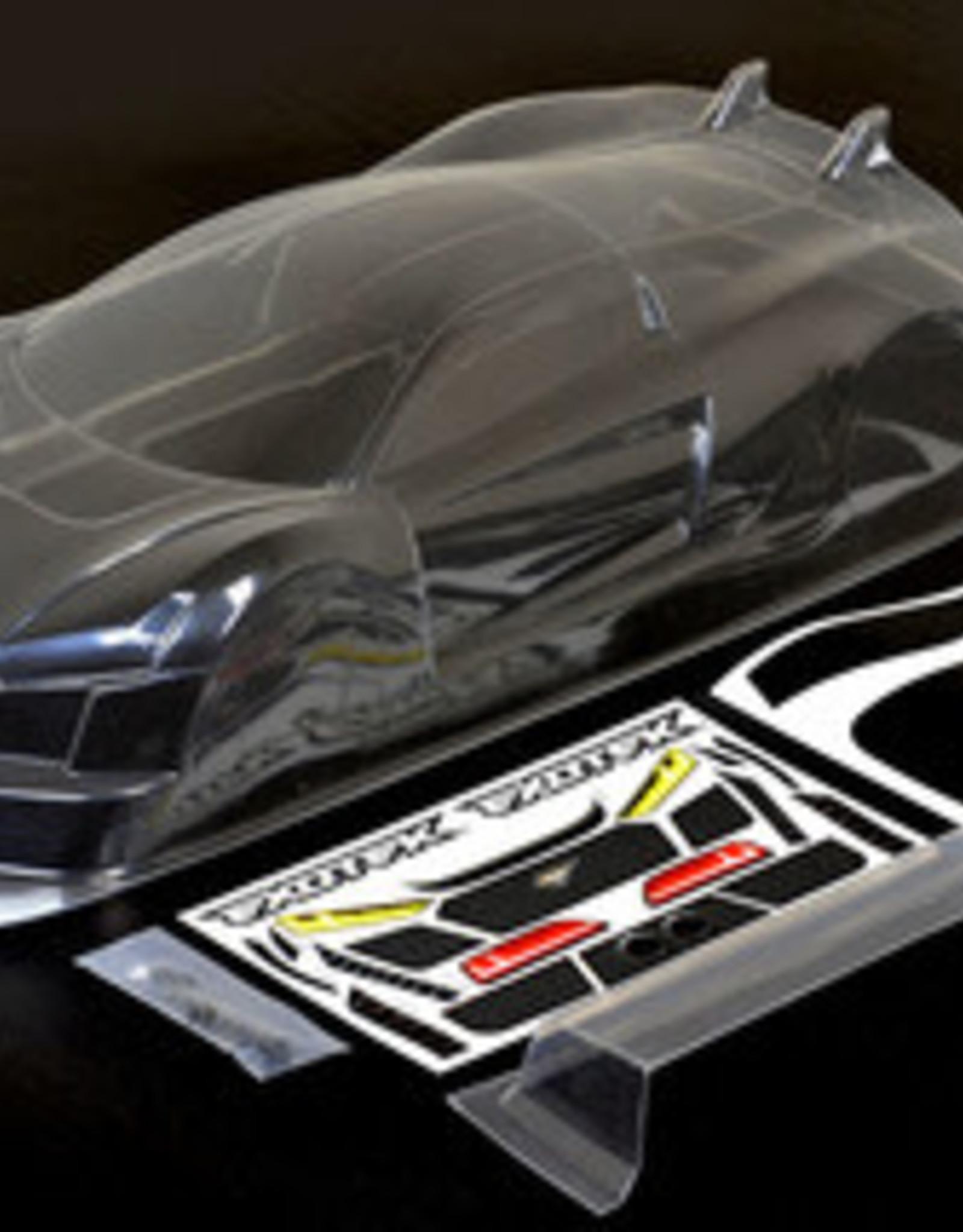 Exotek EXO1863  R TEK 1/10 USGT Race Clear Lexan Body, w/ Wing