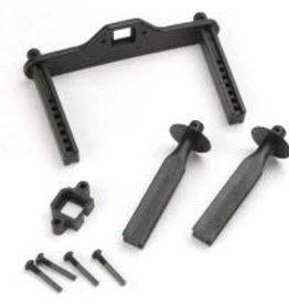TRAXXAS Body mount posts, front (2)/ body mount, rear/ body mount screw pins (4)