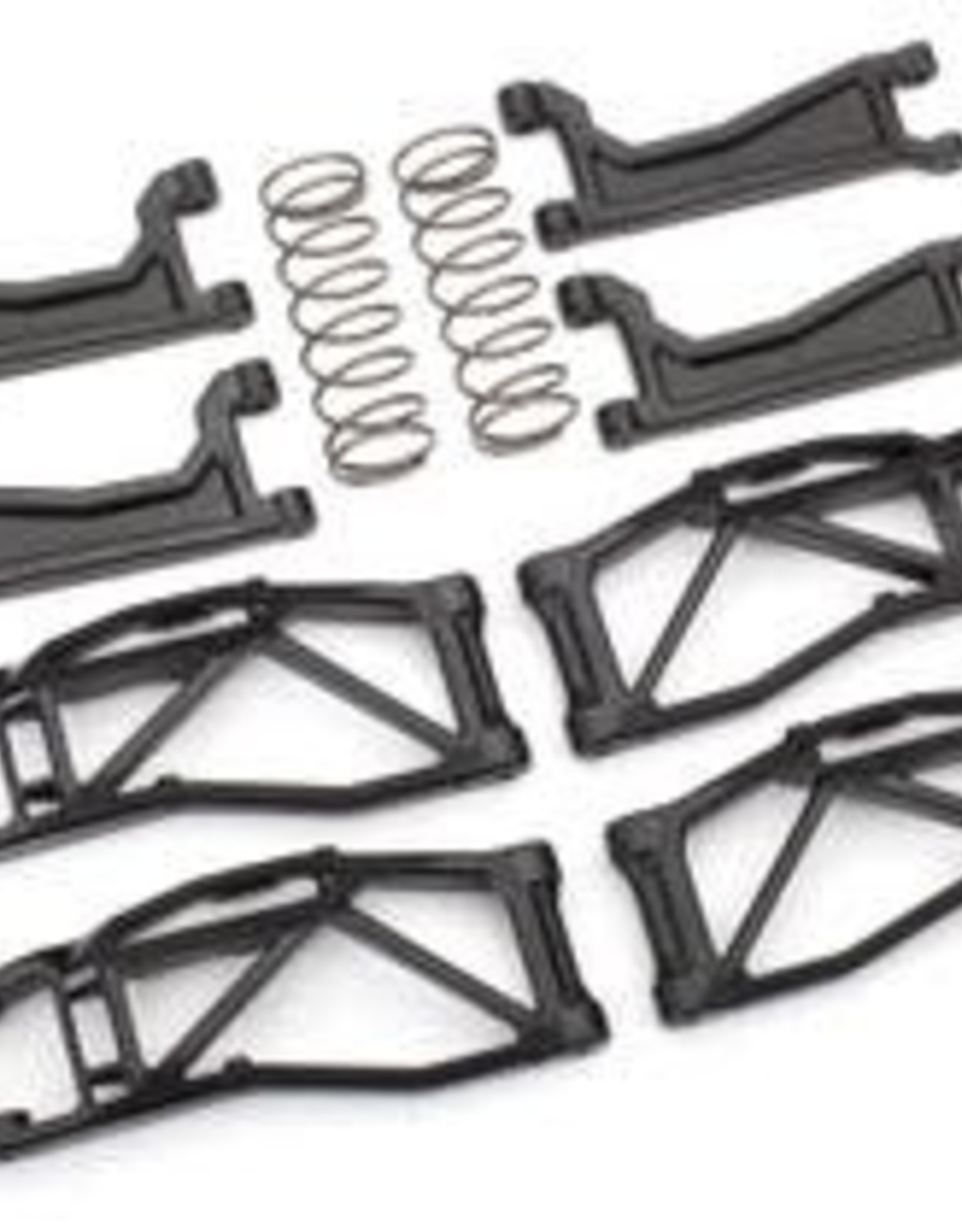 TRAXXAS Suspension kit, WideMaxx™, black (includes front & rear suspension arms, front toe links, rear shock springs)