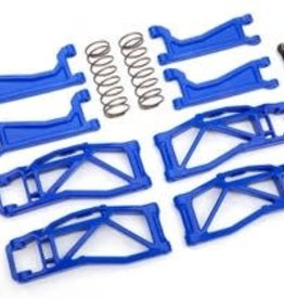 TRAXXAS Suspension kit, WideMaxx™, blue (includes front & rear suspension arms, front toe links, rear shock springs)