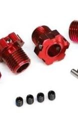 TRAXXAS Wheel hubs, splined, 17mm (red-anodized) (4)/ 4x5 GS (4), 3x14mm pin (4)