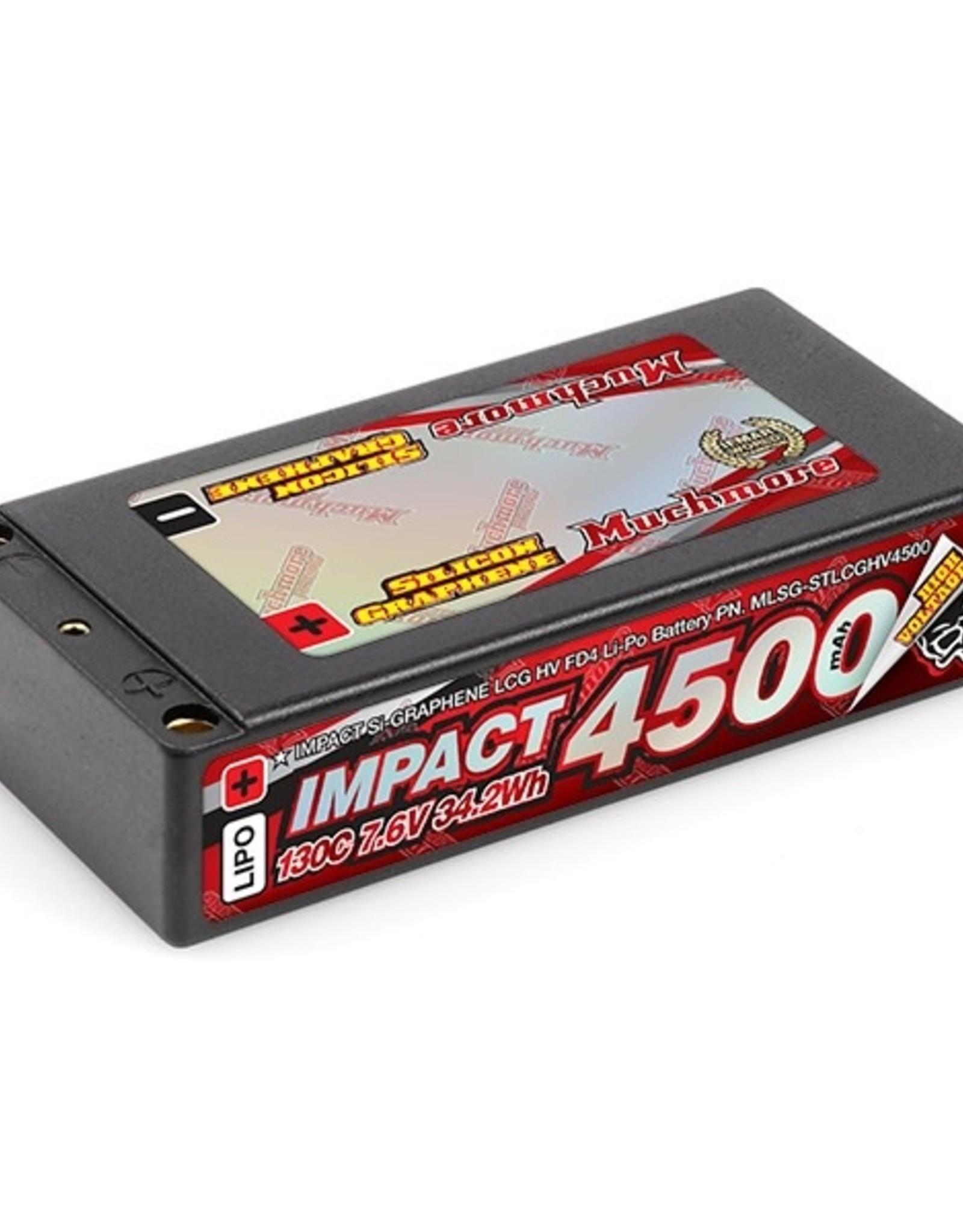 "Muchmore Muchmore IMPACT ""Silicon Graphene"" LCG HV FD4 4500mAh/7.6V 130C Shorty"