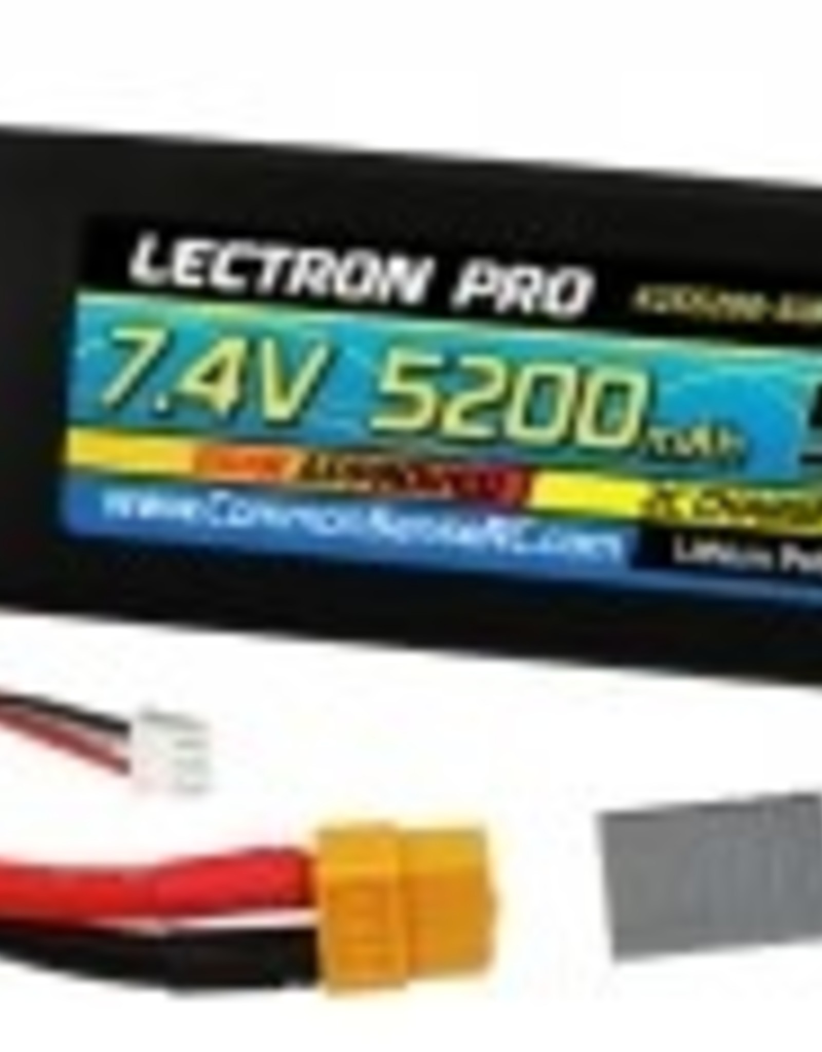 Common Sense Rc Lectron Pro 7.4V 5200mAh 50C Lipo Battery with XT60 Connector + CSRC adapter for XT60 batteries to popular RC vehicles