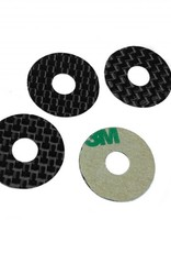 1UP Carbon Fiber Body Washers Adhesive Backed 5mm Post (4pcs)