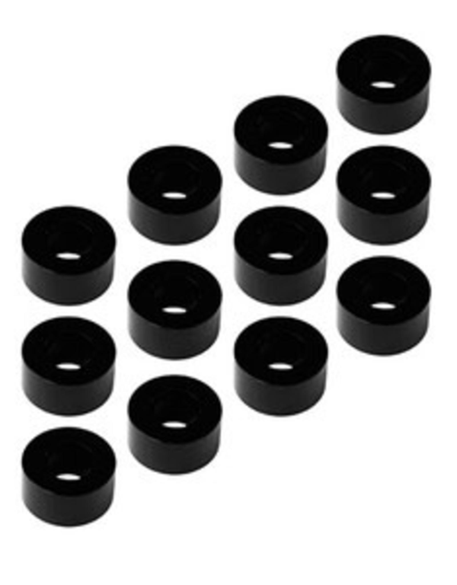 1UP 1UP 3x6x3mm Precision Aluminum Shims, Black, 12pcs
