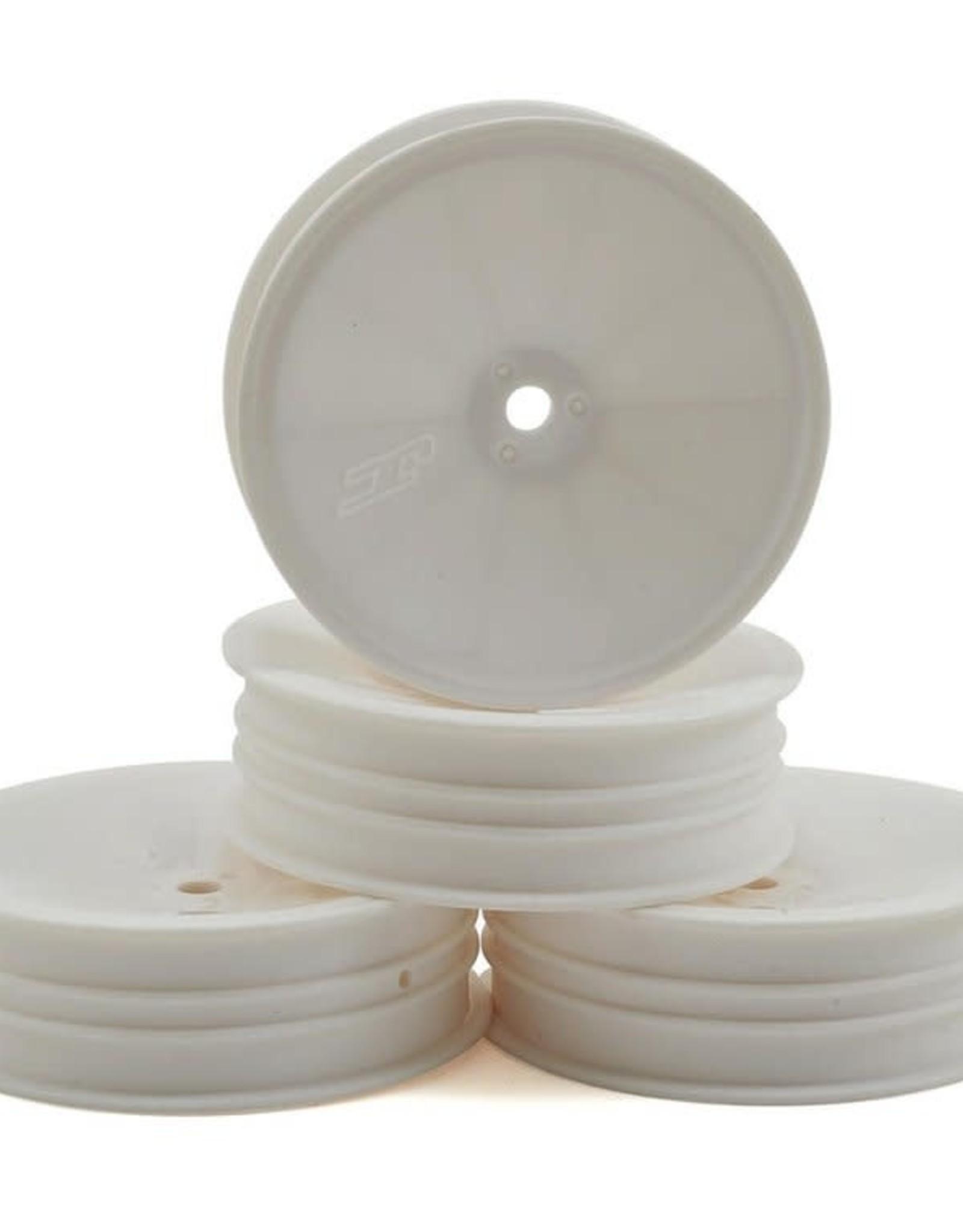 "JConcepts JConcepts 12mm Hex Mono 2.2 ""Slim"" Front Wheels (4) (B6/RB6/SRX2/YZ2) (White)"