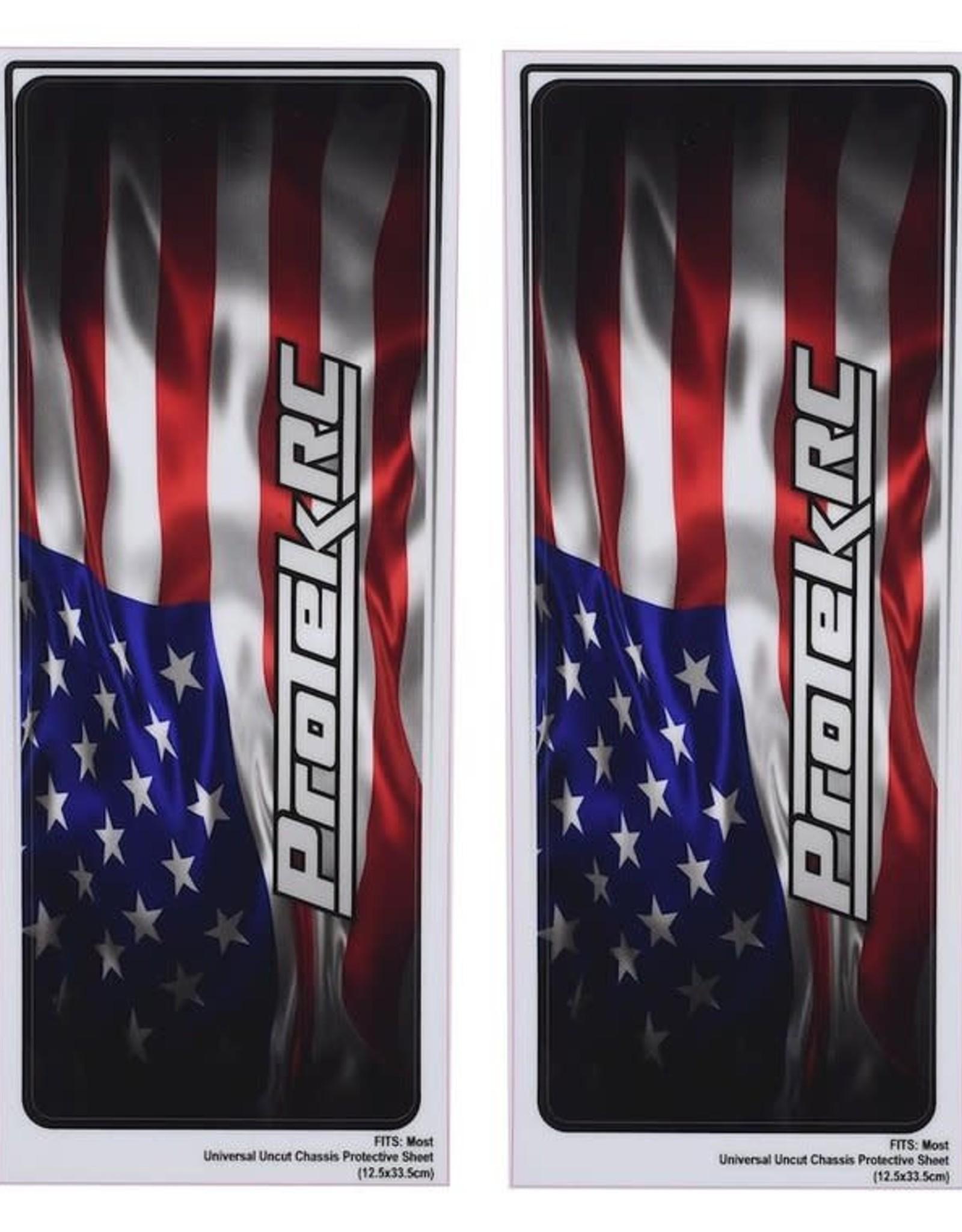 Protek RC ProTek RC Universal Chassis Protective Sheet (USA) (2) (12.5x33.5cm)