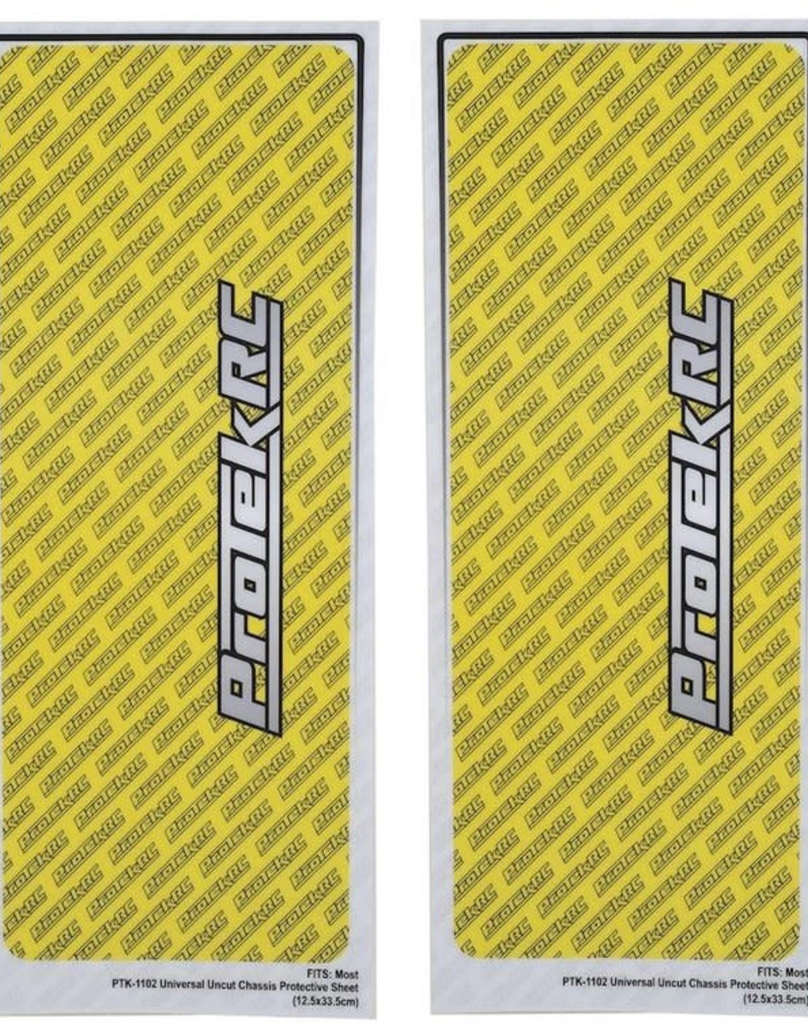 Protek RC ProTek RC Universal Chassis Protective Sheet (Yellow) (2) (12.5x33.5cm)