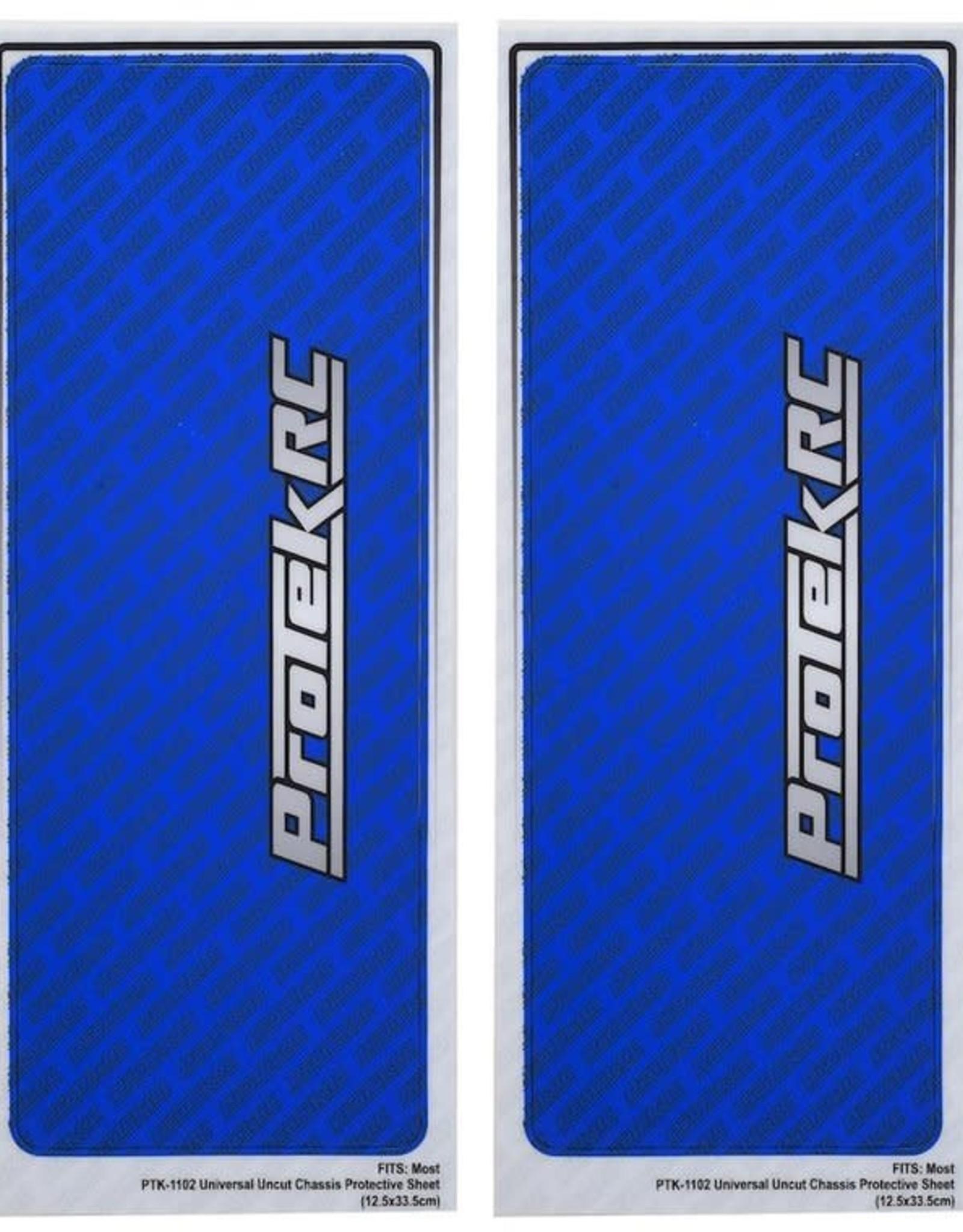 Protek RC ProTek RC Universal Chassis Protective Sheet (Blue) (2) (12.5x33.5cm)