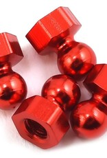 CRC CRC Damper Tube Hex Ball Studs (Red) (4)