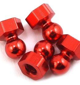 CRC CRC Damper Tube Hex Ball Studs (Red) (4)