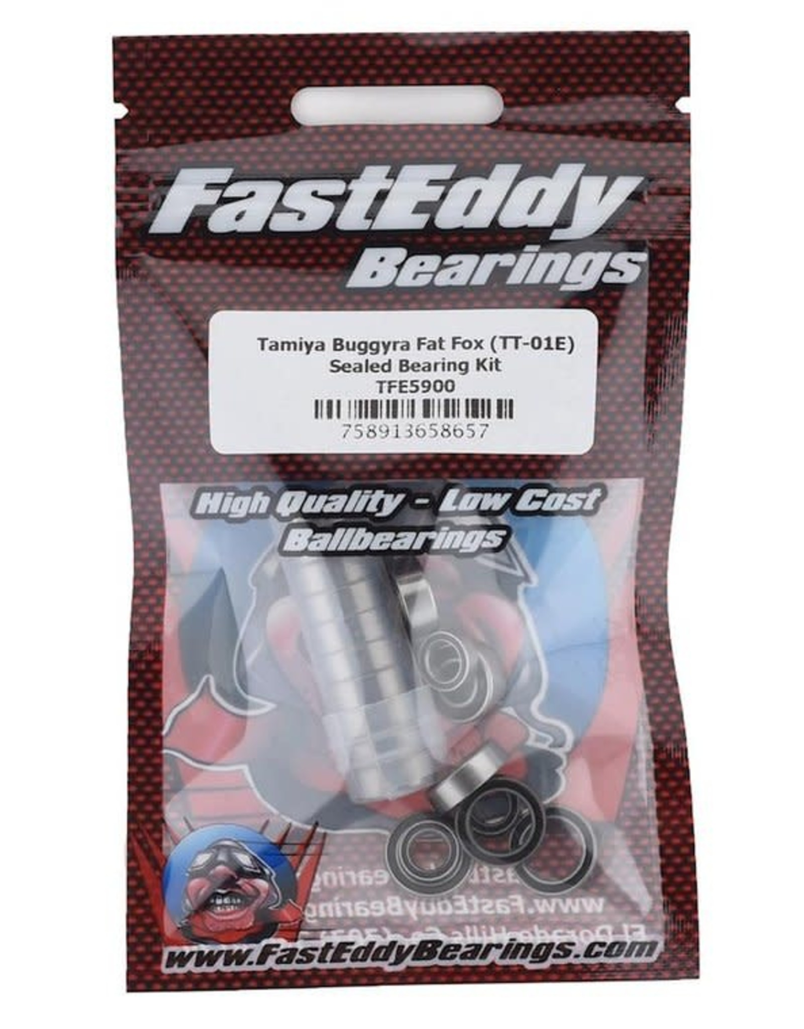 Fast Eddy FastEddy Tamiya Buggyra Fat Fox Sealed Bearing Kit (TT-01E)
