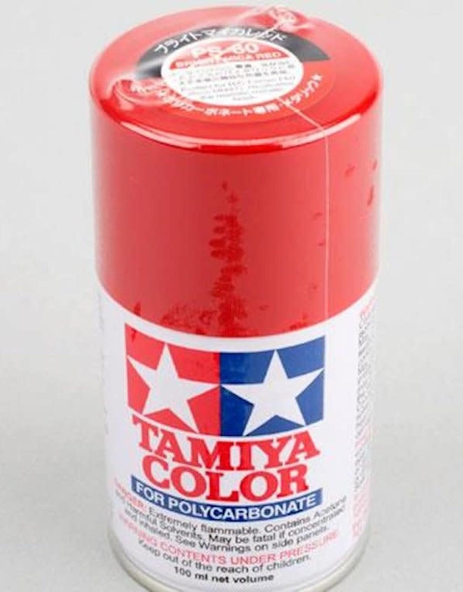 Tamiya Tamiya PS-60 Bright Mica Red Lexan Spray Paint (100ml)