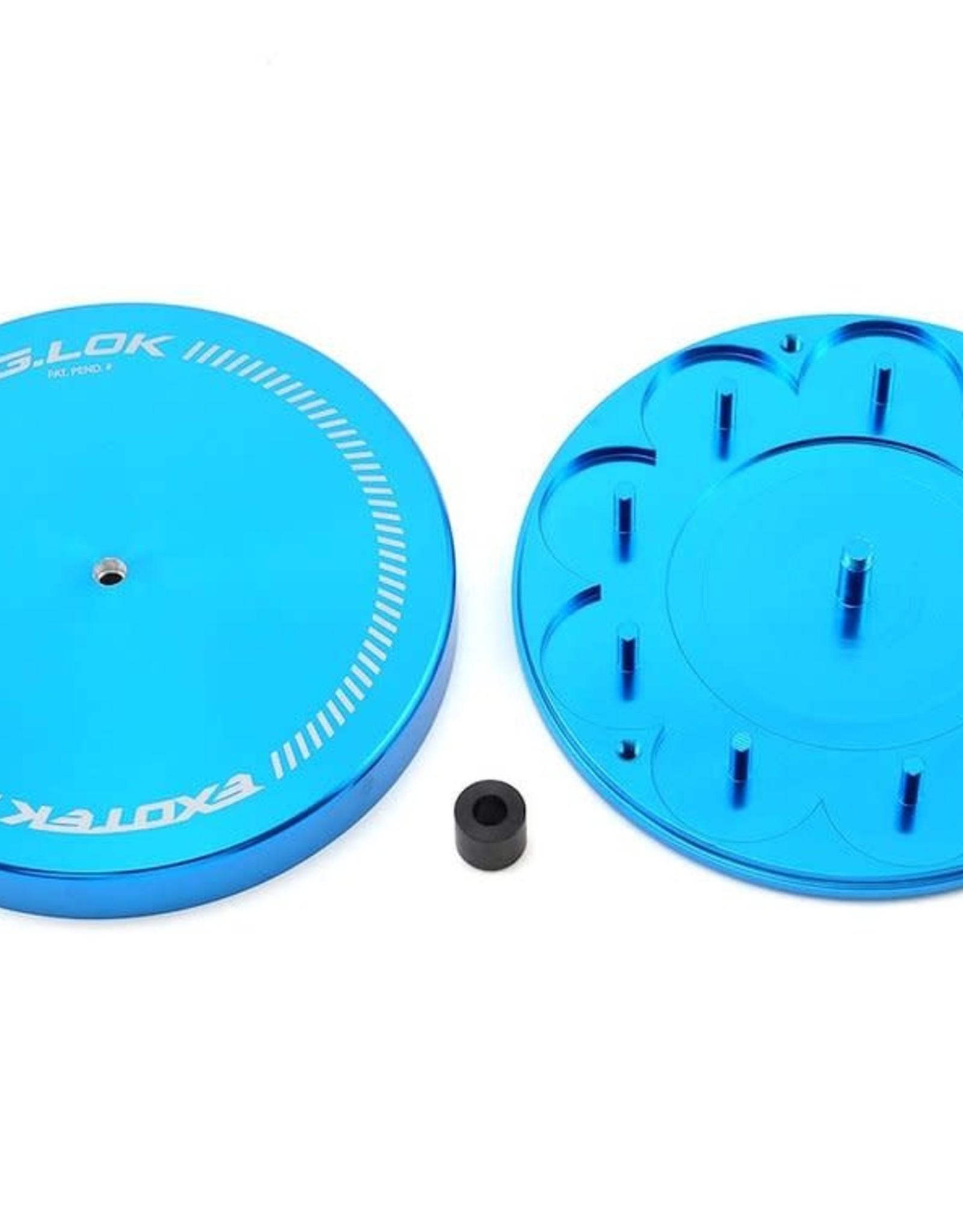 Exotek Exotek G.LOK Gear Locker Pinion & Spur Gear Case w/Parts Tray (Blue)