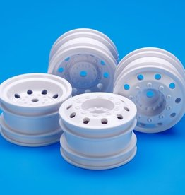 Tamiya RC ON-ROAD RACING TRUCK WHEELS F/R / White 2Pcs Each