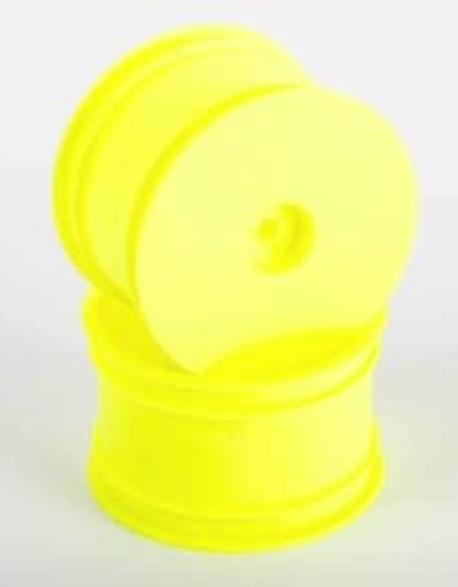 "Raw Speed 1/10 2.2"" Buggy Rear Wheels - Yellow"