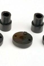 TRAXXAS SHOCK MOUNTING BUSHING/WASHER Piston head set (2-hole (2)/ 3-hole (2))/ shock mounting bushings & washers (2) (Big Bore Shocks)