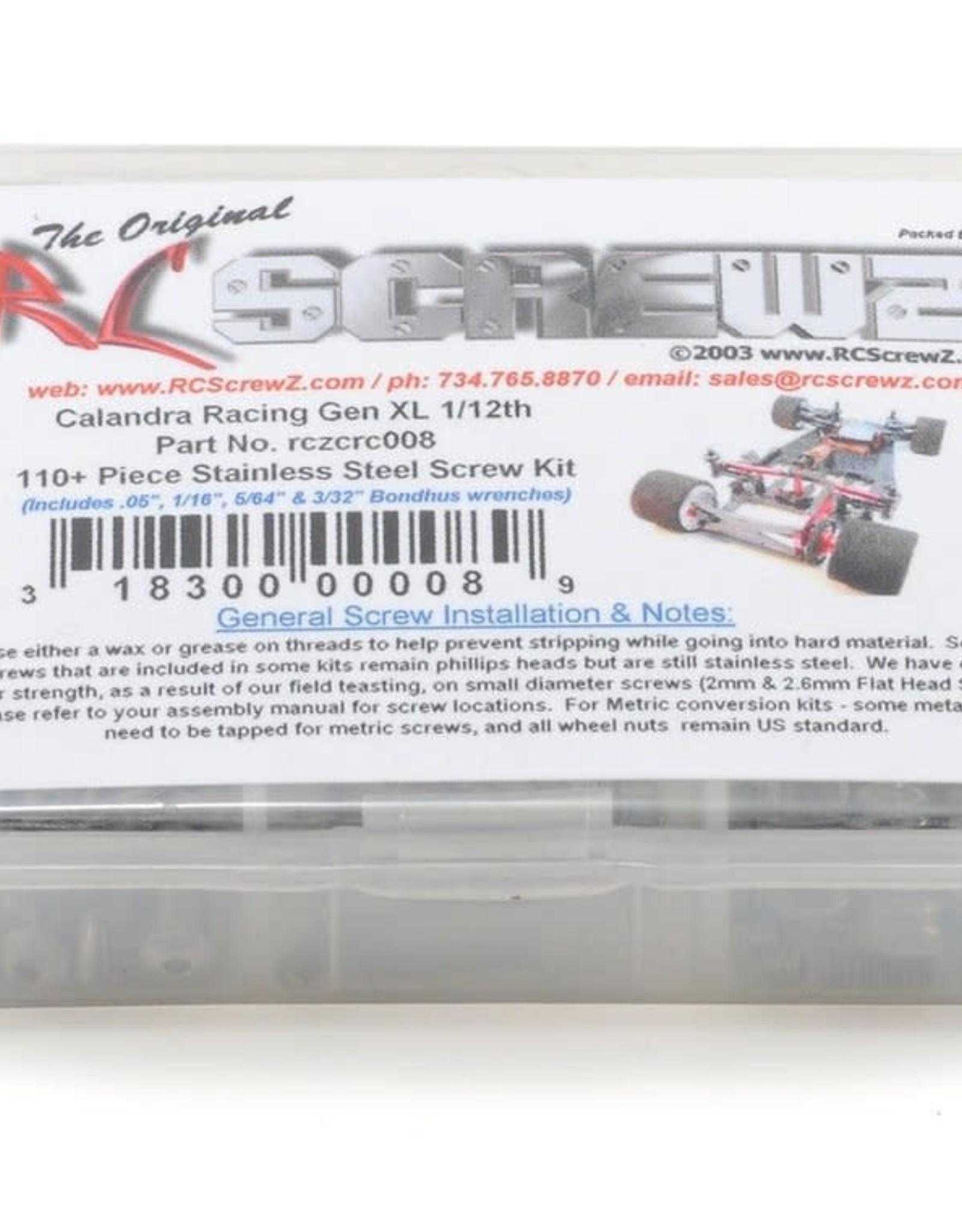 RC Screwz RC Screwz CRC Gen XL Stainless Steel Screw Kit