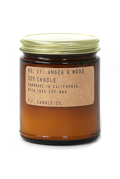 Soy Candle | Amber & Moss