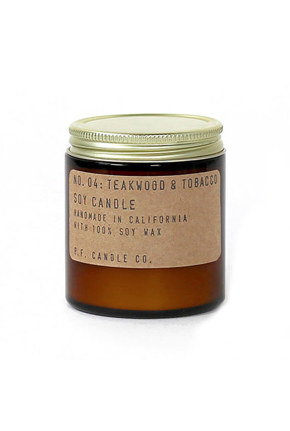 Soy Candle   Teakwood & Tobacco