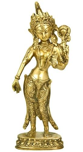Brass Statue | Goddess Green Tara-1