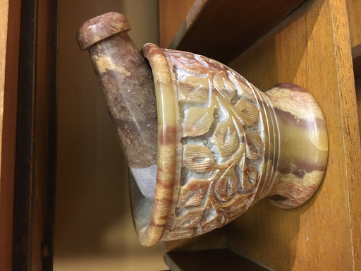 Mortar & Pestle - Caved Floral Soapstone-1
