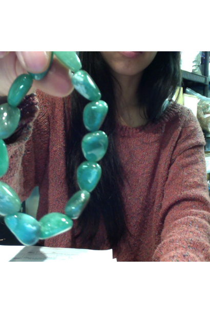 Tumbled Stone Bracelet | Green Aventurine | 8-10mm