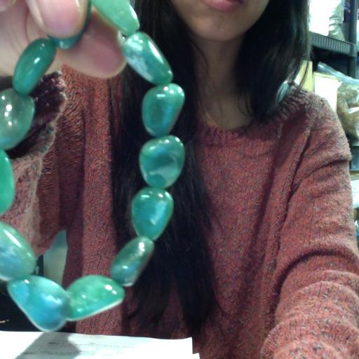 Tumbled Stone Bracelet | Green Aventurine | 8-10mm-1