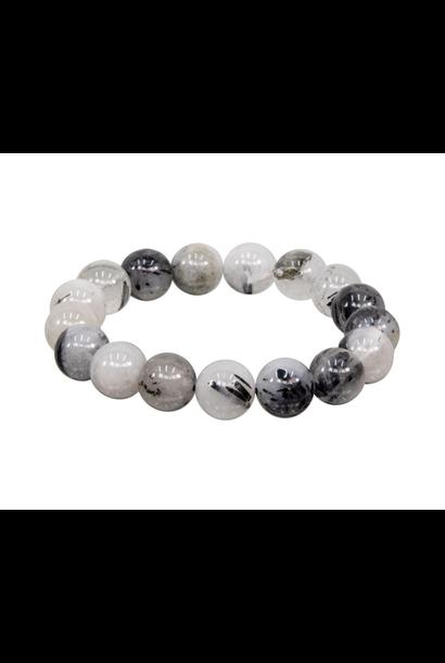 Tumbled Stone Bracelet | Rutilated Quartz | 12mm