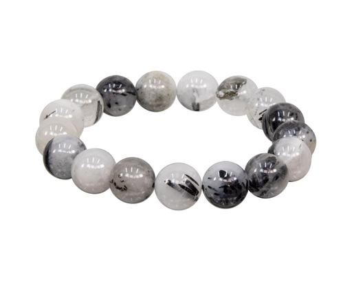 Tumbled Stone Bracelet | Rutilated Quartz | 12mm-1