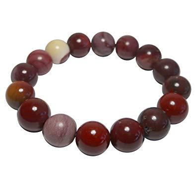 Tumbled Stone Bracelet | Mookaite Jasper | 12mm-1