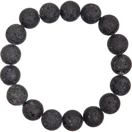 Tumbled Stone Bracelet   Lava Stone   12mm-1