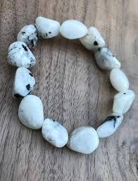Tumbled Stone Bracelet | Rainbow Moonstone | 10mm-1