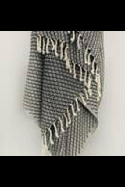 4133 - Turkish Towel - Sonoran Pestemal - BLACK - no stripes - w/Tassels