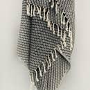 Sonoran Pestemal - Black - No Stripes - w/ Tassels-1