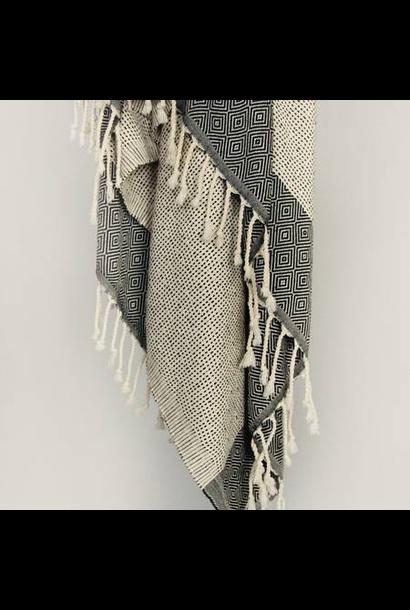 4040 - Turkish Towel - Joshua Tree Peshtemal - BLACK w/ Tassels