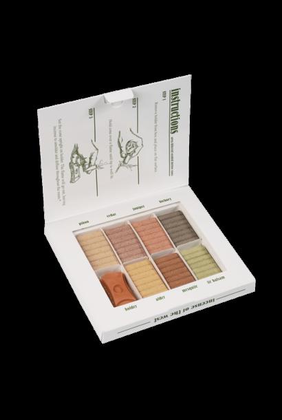 3851 - Natural Wood Incense - SAMPLER PACK - 7 scents w/ holder - 70 Bricks - Incense of the West