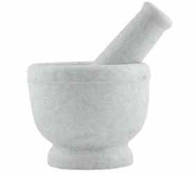 Mortar & Pestle - White Marble - Large-1