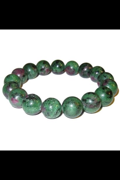 Tumbled Stone Bracelet | Ruby Zoisite | 8mm