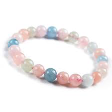 Tumbled Stone Bracelet | Morganite | 8mm-1