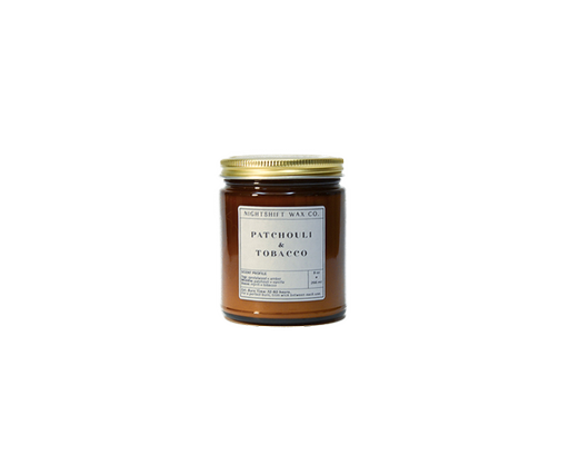 Soy Candle | Patchouli + Tobacco-1