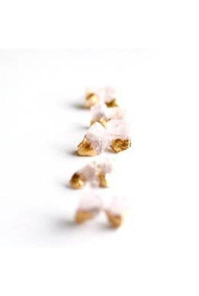 Earrings | Rose Quartz Gold Dipped Studs