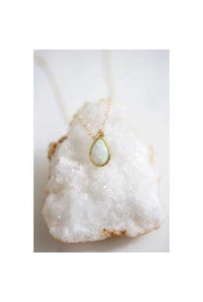 Necklace | Opal Teardrop Necklace