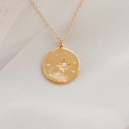 Necklace | Starry Night Opal Necklace-1