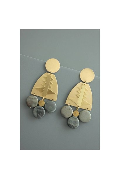 Earrings | Brass + Jasper